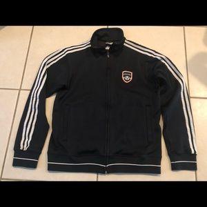 Adidas World Cup Soccer Germany Black Men Jacket M